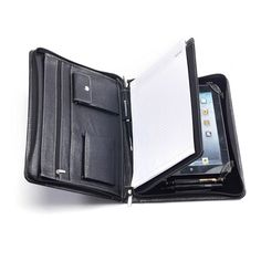 iPad Full Grain cowhide Leather Portfolio case for ipad