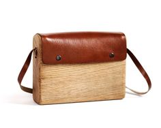 Oak Bag Large - Handmade using one piece of oak wood and vegetable tanned leather | 235.00