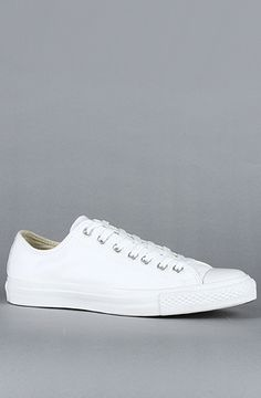 Converse The Chuck Taylor All Star Leather Ox Sneaker in White Monochrome, 20% off with Rep Code: PAMM6