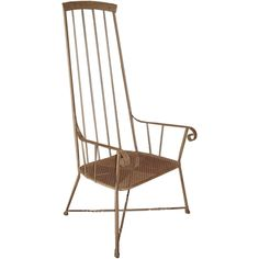 Unusual Wrought Iron Chair