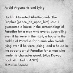 Avoid Arguments and Lying