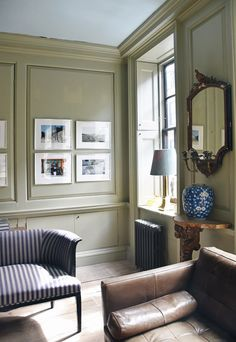 Home tour | A restored Georgian townhouse in East London Georgian Townhouse, Georgian Homes, Wooden Panelling, London Property, Built In Seating, Pine Floors, Loft Spaces, East London, Interior Design Inspiration