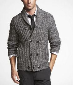 like!+Lambswool+Double+Breasted+Cardigan+at+Express