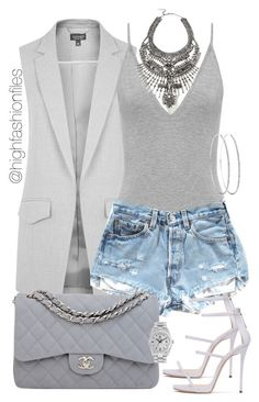 No Grey Area by highfashionfiles on Polyvore featuring polyvore fashion style Topshop Chanel DYLANLEX Rolex clothing