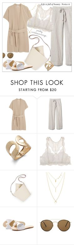 """""""Cool summer..."""" by nihal-imsk-cam ❤ liked on Polyvore featuring Vince, Gap, Catherine Malandrino, Eberjey, Lucky Brand, Ray-Ban and prettyunderpinnings"""