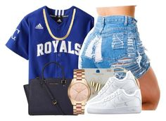 """Sem título #1913"" by isabellacarolina161 ❤ liked on Polyvore featuring Michael Kors, Topshop and NIKE"