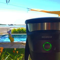Coffee Gear at the Beach! #cantlivewithout #hadtobedone 》Equipo de Behmor Connected Brewer in Paradise!  Café en la playa! #behmor #cafetera #equipo #cafe #coffee #coffeegear #coffeegeek #indispensable #ilovecoffee