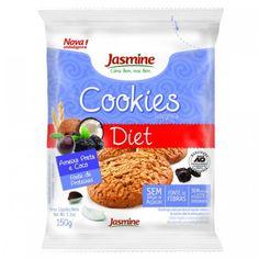 Os Cookies Integrais Diet Ameixa Preta e Coco da Jasmine são elaborados com ingredientes integrais e naturais! São fonte de fibras, sem leite e derivados, e isento de conservantes! Compre online e receba na sua casa!
