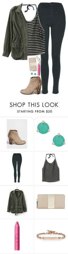 """happy st. patrick's day ☘found a four leaf clover today "" by thatprepsterlibby ❤ liked on Polyvore featuring maurices, Kate Spade, Topshop, tarte and Hoorsenbuhs"