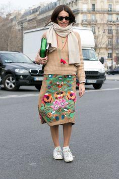 Неделя моды в Париже F/W 2015: street style. Часть 7 (фото 21)