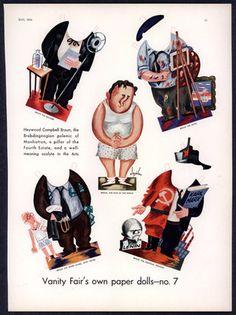"Uncut 1934 ""Vanity Fair"" Heywood Campbell Broun Paper Doll 2330   eBay"