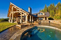 Modern Okanagan Log Home | 12 Real Log Cabin Homes - Take A Virtual Tour on Homesteading!