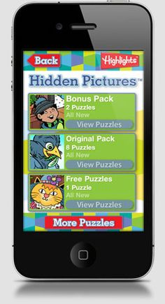 "Highlights Hidden Pictures - Babble.com's Top 50 iPhone Apps for Kids. ""My eight-year-old enjoys this app as much as I remember enjoying the magazine pictures when I was her age."""