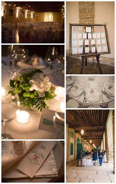 Wedding suite details. Tableau, menu, centerpiece wiht ortensia Hydrangea