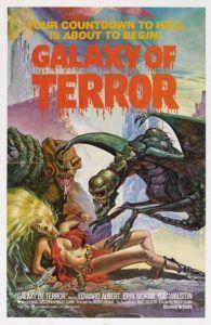 B-Movie Bunker Episode 351:  Galaxy of Terror (1981) - http://www.guyinabunker.com/2016/10/23/b-movie-bunker-episode-351-galaxy-of-terror-1981/