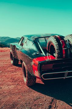 The screen-used Off-Road Charger stunt car driven by Vin Diesel in the movie Furious Personal shoot for fun, because OFF-ROAD CHARGER. Muscle Cars Dodge, Custom Muscle Cars, Custom Cars, Us Cars, Sport Cars, Street Racing Cars, Best Luxury Cars, Fast And Furious, Furious 7 Cars