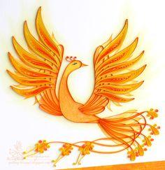 """Доброго дня!  Вот она - Жар-птица из наших детских сказок .  Сделала я её для задания """"Птицы """" в блоге Хомячок Challenge.    Я совместила р..."""