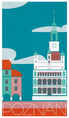 Poznań - vintage stylized travel poster