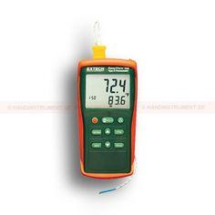 http://termometer.dk/termometer-r13808/termometer-termoelement-r13903/1-kanals-termometer-type-k-53-EA11A-r13910  1-kanals termometer, type K  Kompakt og robust design med stort LCD-display og høj kontrast  Manuelt Gem og husker op til 150 stk Readings  -50 Til 1300 ° C og 0,1 ° C / 1 ° C  Gemmer Max / Min / Gennemsnitlige aflæsninger for senere genkalde  Offset nøgle, der bruges til nul-position til at foretage relative målinger  Data hold, automatisk sluk Garanti: 2 År
