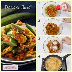 [AJI RECIPE] An aromatic spicy okra dish that will go perfectly with rice or as finger food. Give this easy recipe a try and let us know how you like it.  Full recipe available here: https://www.myajinomoto.com.my/tastytreats/mobile/recipes/besani_bindi.php
