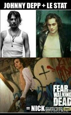 After the pilot i said that Nick looked like a young Johnny Depp. fear the walking dead Walking Dead Girl, Fear The Walking Dead, Young Johnny Depp, Talking To The Dead, Bae, Dead Zombie, Stuff And Thangs, Cartoon Tv, Dead Man