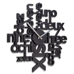 Horloge Design Murale, Achat/Vente Horloge Design Noire, Lingua ...