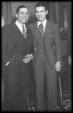Carlos Gardel e Ignacio Del Valle, hermano de la novia de Gardel, Isabel del Valle