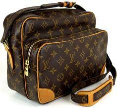 VINTAGE Louis Vuitton Designer Handbags. Louis Vuitton M45244 Nil Monogram Canvas Shoulder Bag EXCELLENT Condition! by SimplyLuxuryVintage on Etsy https://www.etsy.com/listing/219920704/vintage-louis-vuitton-designer-handbags