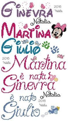 Resultado de imagen para martina a punto croce Crochet Stitches Patterns, Cross Stitch Patterns, No One Loves Me, Tricks, Martini, Bullet Journal, Lettering, Knitting Charts, House Numbers
