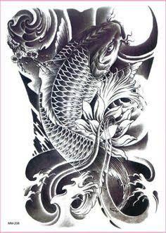 Resultado de imagem para koi fish lotus flower tattoos