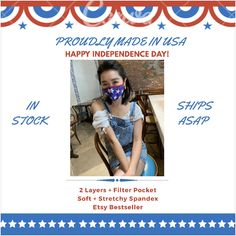 Female Mask, Happy Independence Day, Spandex Fabric, Fourth Of July, Best Sellers, Filters, Layers, Hair Color, Hair Beauty