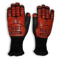 Grill Beast BBQ Grilling Cooking Gloves - Heat Resistant Kevlar & Silicone Insulated Protection - Smoker and Kitchen... @ SLonlineventures.com