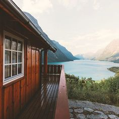 Cabin on Lovatnet lake in Norway photographed by Johan Lolos Life Is Beautiful, Beautiful Places, Cabin In The Woods, Interior Exterior, Adventure Is Out There, Oh The Places You'll Go, Location, Key West, The Great Outdoors