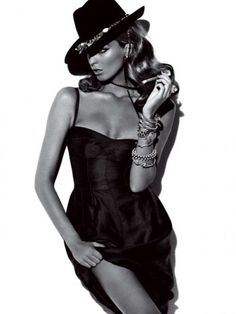 Cigar-Smoking Cowgirls - Mexican Actresses Channeled by Model Daria Werbowy in V64 (GALLERY)