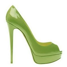 3c2b7c0e7c Christian Louboutin Lady Peep 150Mm Patent Peep Toe Pumps Green Sapatos  Christian Louboutin