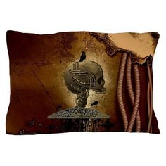 Mechanical skull with crow and spider Pillow Case by nicky - CafePress Custom Pillow Cases, Crow, Spider, Skull, Dreams, Pillows, Cover, Prints, Design