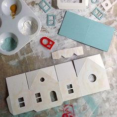 How to: decorate a putz house / AllThingsPaper.net