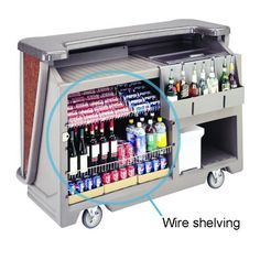 Cambro 650WS Wire Shelf for BAR650 Portable Bars by Cambro. $39.50. This Cambro 650WS wire shelf adds functionality and versatility to all BAR650 Cambar portable bars. Keep extra napkins picks towels and other necessities close by 650WS From Cambro
