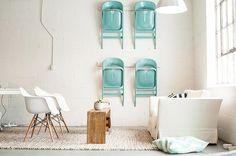 Metalowe krzesła bez tapicerki - Wnętrza - Aranżacja i wystrój wnętrz - Dom z pomysłem