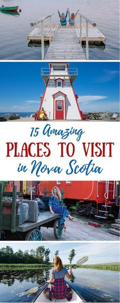 15 Amazing Places to Visit in Nova Scotia, Canada (And Where to Stay!) Visiting Nova Scotia, Canada should be on your bucket list. We've covered the 15 BEST places to visit in Nova Scotia -- with tips on where to stay! Nova Scotia Travel, Visit Nova Scotia, Cool Places To Visit, Places To Travel, Travel Destinations, Travel Europe, Japan Travel, Vancouver, Banff