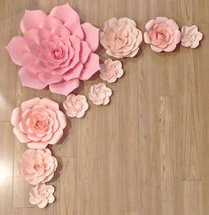 Bastante en telón de fondo de flor rosa por PaperBlissDecor en Etsy