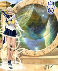 Sailor Uranus by Maryneim on DeviantArt Sailor Moon Fan Art, Moon Drawing, Sailor Uranus, Group Art, Fantasy Artwork, Cartoon Characters, Hero, Animation, Deviantart