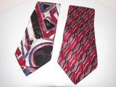 Two All Silk Neckties 417 Van Heusen and Puritan Tie Multicolored Classic Nice #VanHeusen #NeckTie