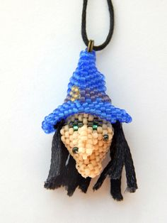 Witch pendant  Halloween hag necklace by LaGansaHandiwork