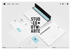 Studio Otwarte #webdesign #inspiration #UI