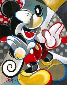 Mickey Mouse cartoon illustration via www.Facebook.com/DisneylandForMisfits