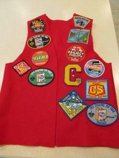 Red felt cubscout patch vest