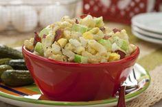 We have given popular macaroni salad a homemade makeover by adding the smoky flavor of bacon and the heartiness of chopped eggs. Team our Bacon and Egg Macaroni Salad with any of your picnic or cookout favorites and get ready for raves.