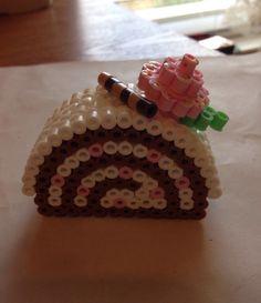 3D Perler Bead Cake by PerlierGirl