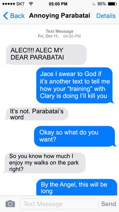 Texts from Shadowhunters, Alec to Jace ~The Mortal Instruments Alec And Jace, Clary And Jace, Clary Fray, Shadowhunter Quotes, Shadowhunter Academy, Shadowhunters Tv Show, Shadowhunters The Mortal Instruments, Mortal Instruments Funny, Will Herondale